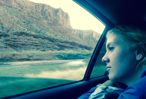 Stevie, on our way to the canyons of Utah to go exploring